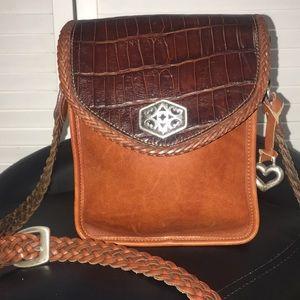Brighton leather crossbody Bag EUC no flaws